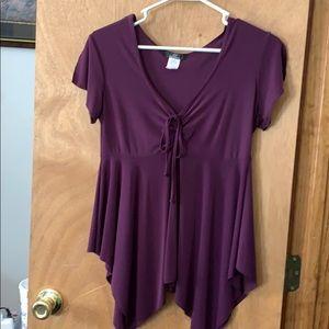 Large purple blouse